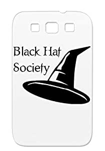 Halloween All Hallows Eve Magic Holidays Occasions Hat Witch Black Salem Gray Hat Society For Sumsang Galaxy S3 Case