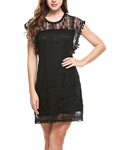 meaneor-womens-capped-sleeve-slim-full-lace-mini-cocktail-dress-black-l
