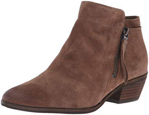 Sam Edelman Women's Packer Ankle Boot, Dark Taupe Suede, 8.5 M US