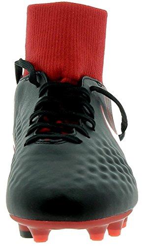 Nike Jr Magista Onda II DF FG, Botas de Fútbol Unisex Niños Schwarz (Schwarz/Weiß-Universität Rot 061)