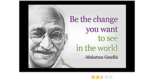 PY2 BE the CHANGE YOU WANT TO SEE poster INSPIRATIONAL 24X36 Gandhi Quote