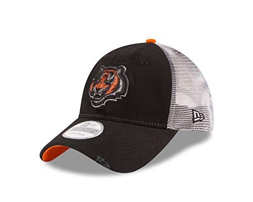 New Era NFL Cincinnati Bengals Team Rustic 9TWENTY Adjustable Cap, One Size, Black