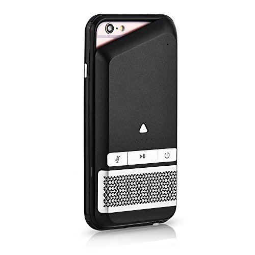 iPhone 6 Case, iPhone 7 Case, GIZEE Portable Bluetooth Speaker 1800 mAh Battery Case for Apple iPhone 6 / iPhone 6S/ iPhone 7 4.7 Inch - Black