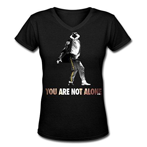 Michael Jackson poster 2016 Hot Women's V Neck T Shirt M (Michael Jackson Outfits)
