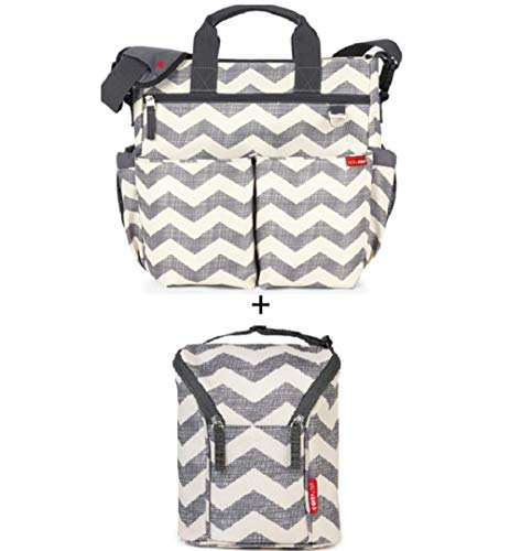 Bundle Skip Hop Diaper Bag Chevron + Skip Hop Insulated Breastmilk Cooler and Baby Bottle - Diaper Dash Bag Messenger
