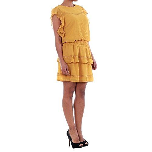 S HARVEST VMARUBA Moda 10193957 SHORT Dorado Vero Mujer S Vestido GOLD DRESS 760SqS