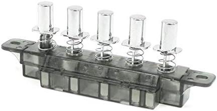 COMEYOU 5 Interruptores con pulsador Tipo de Piano Interruptor de Teclado para Campana extractora AC 250V 4A: Amazon.es: Hogar