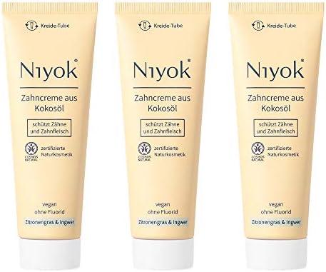 Niyok® Kokosöl Zahnpasta ohne Fluorid und Mikroplastik Plastik | Bio Naturkosmetik Sensitiv auch für Kinder |...