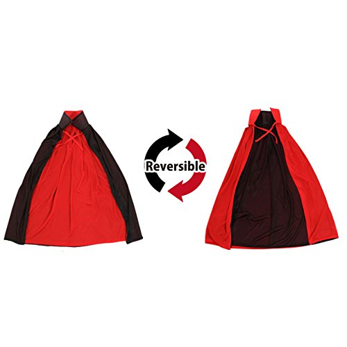 Cool Cosplay Vampire Witches Deluxe Reversible Cape Halloween (For Kids) (Goth Halloween Costumes For Kids)