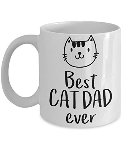 Father's Day Gifts From Wife - Best Cat Dad Ever White Coffee Mug, Tea Cup