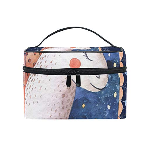 Makeup Cosmetic Bag Starry Night Unicorn Portable Storage with Zipper