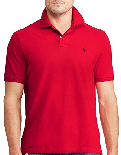 Polo Ralph Lauren Mens Medium Fit Interlock Pony Shirt- RL2000Red - Medium (Ralph Lauren De)