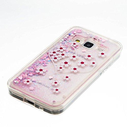 Para Samsung Galaxy Core Prime G360de SM sm-g361F (4,5pulgadas) funda, 3d fließen líquido para trucha, arenas movedizas estrella Bling Lujo Shiny brillo Sparkle Cristal Crystal Multicolor de amor d 8