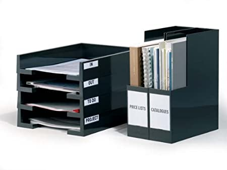 Durable 807219 - Paquete de 10 bolsillos adhesivos para tarjetas, 75 x 18 mm: Amazon.es: Oficina y papelería