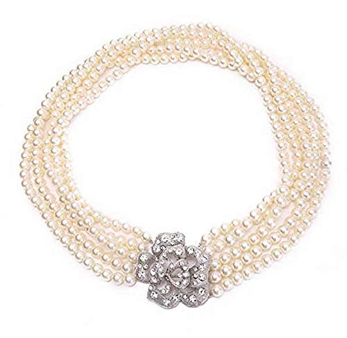 Utopiat Audrey Style Strand Flapper Costume    Pearl Necklace Women Inspired By ()