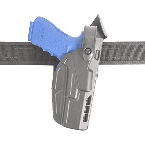 (SAFARILAND (SAFARILAND) Model 7360 7TS ALS/SLS Mid-Ride, Level III Retention Duty Holster, Fits Glock 17/22, Right Hand, Plain Black Finish)