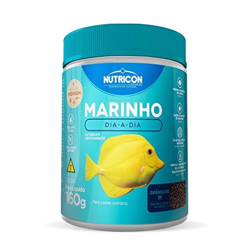 Marinho Dia-A-Dia Tamanho Médio 160g Nutricon Para Peixe Marinho Adulto