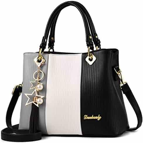 4b8cf51e9aec Shopping Blacks - Faux Leather - Satchel - Top-Handle Bags ...