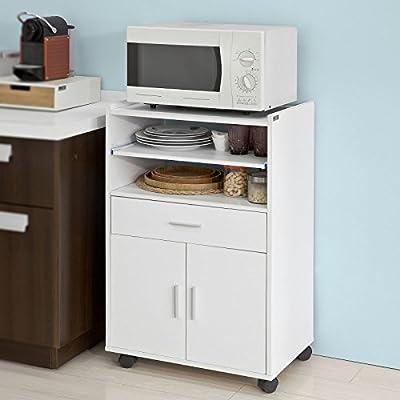 SoBuy Aparador Auxiliar bajo de Cocina para microondas,con 2 ...
