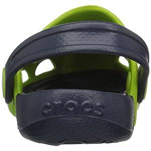 Crocs Unisex-Kids Electro Clog, Volt Green/Navy, 2 M US Little Kid