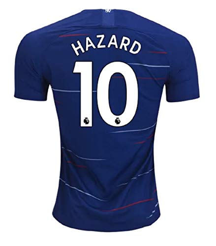 SVETZONA Hazard 10 Chelsea Home Stadium Shirt 2018-19 Soccer Jersey Men's Size M