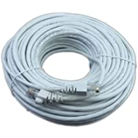 100 ft ethernet cable white color rj45 jack For use with routers, switches, computers, Xbox, PS3 and other devices with network jacks