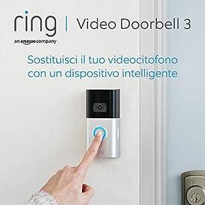 Nuovo Ring Video Doorbell 3   Videocitofono in HD, rilevazione avanzata del movimento e facile installazione