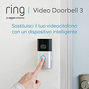 Ring Video Doorbell 3 | Videocitofono in HD, rilevazione avanzata del movimento e facile installazione