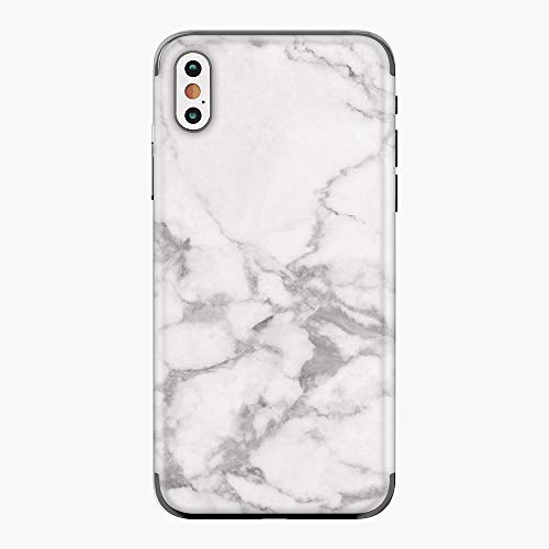 Tectom iPhone Premium 3M Vinyl Wrap Sticker Skin Decal Cover for iPhone X XS XS max Marble Textured (White, iPhone X)