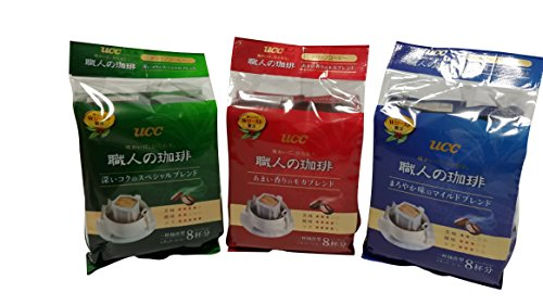 UCC Single Serve Hand Drip Coffee 24 pack(Mild Blend, Mocha Blend, Special Blend)
