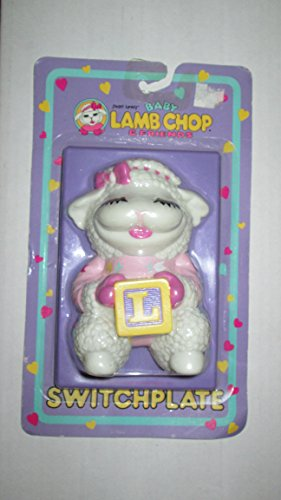 1993 Happiness Express, Inc. Shari Lewis Enterprises, Inc. Shari Lewis Baby Lamb Chop & Friends Light Switch Plate #8508 Switchplate ()
