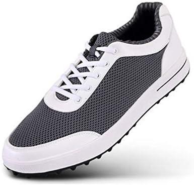 FJJLOVE Zapatos de Golf de los Hombres, de Peso Ligero Spikeless ...