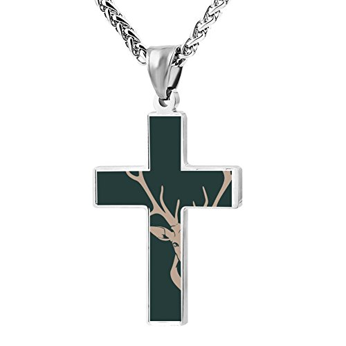 Gjghsj2 Cross Necklace Pendant Religious Jewelry Oh-Deer For Men Wome ()