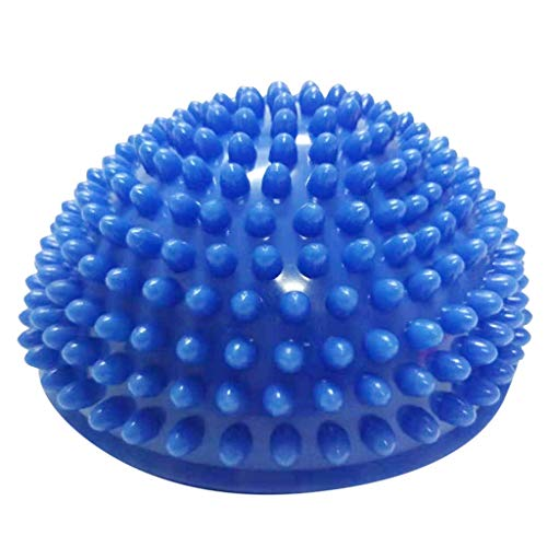 Vicole New Fashion Exercise Spiky Yoga Massage Half Ball Foot Trigger Point Stress Relief Ball for Foot Muscle Therapy, 5 Color Available (Blue, One size)