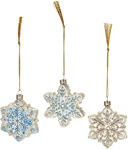 Lenox Vintage Glass Snowflake Ornaments, Set of 3]()