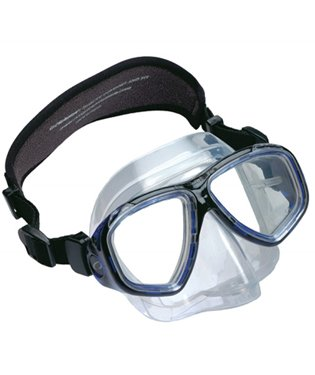 Oceanic Ion 2 Purge Low Volume Scuba Diving Mask w/ Easy to Clear Purge Valve & Neoprene Strap, Clear