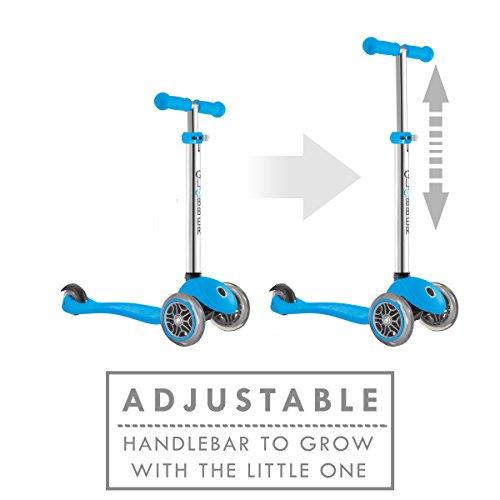 Globber 3 Wheel Adjustable Height Scooter Light Blue