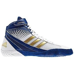 Adidas Wrestling Men's Response 3.1 Wrestling Shoe,Running White/Hero Ink/Metallic Gold,11 M US