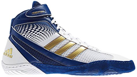 adidas Wrestling Men's Response 3.1-M, Running White/Hero Ink/Metallic Gold, 11.5 M US
