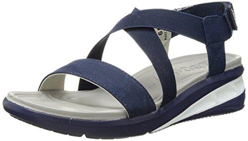 JSport by Jambu Women's Sunny Wedge Sandal, Solid Blue, 7.5 Medium ()
