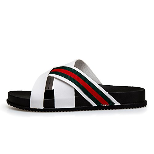 Blanco para Piscina Slippers Pool Chanclas Beach Hombre Playa Raya Blanco Slide SxwRCwqz