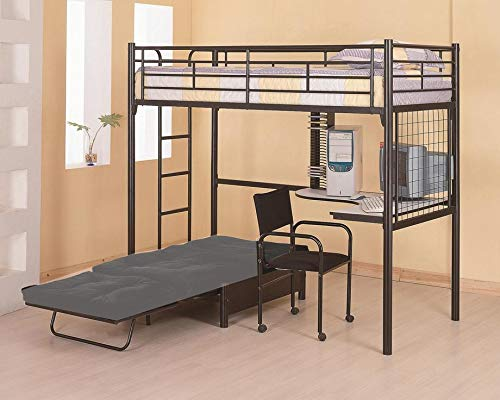 - Twin Workstation Loft Bed Black