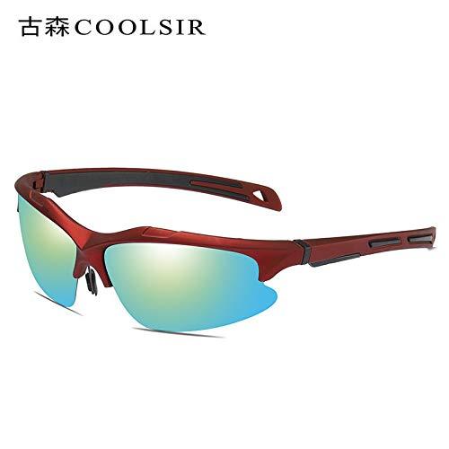 protección nbsp;UV al nbsp; conducen nbsp;conducen sunglasses Sol Gafas Las nbsp;Aire de nbsp; 1 Que Gafas Marco polarizadas Gafas Libre nbsp;Gafas de Que de Deportivas Red Sol Mjia frame Hombre Negro aqwxUz11