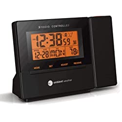 Ambient Weather RC-8427 Clearview Radio Controlled Projection Clock with Indoor Temperature