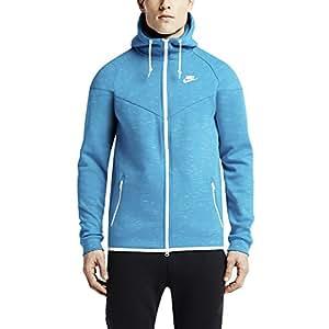 Nike Men's Tech Fleece Windrunner Full Zip Hoodie-Light Blue-2XL