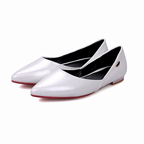 Latasa Femmes Mode Pointue Robe Casual Chaussures Plates Chaussures Blanc  ...