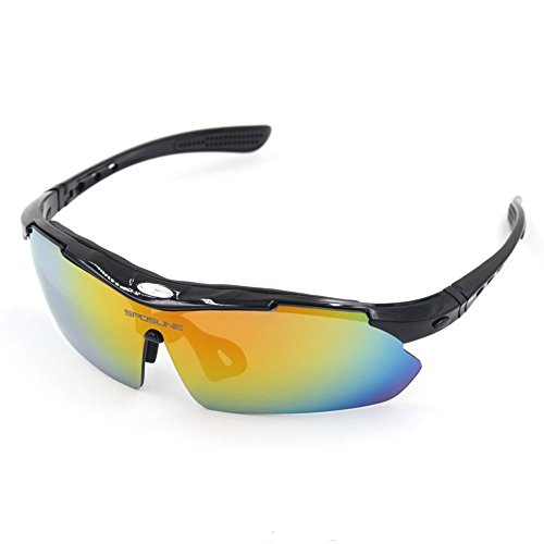 Polarized Sports Sunglasses, Sposune Cycling Running Fishing Driving Eyewear with Lightweight Frame Anti Glare for Adults and Teen' Golf Tennis Baseball UV400 with 5 Interchangeable - Mvmt Glasses
