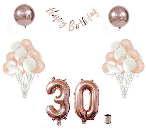 Shimmer and Confetti   30th Birthday Balloon Decoration
