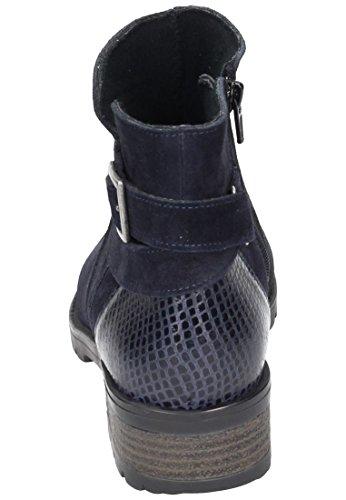 Comfortabel Damen Stiefel Blau, 990984-5 blau