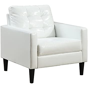 acme balin white faux leather accent chair kitchen dining. Black Bedroom Furniture Sets. Home Design Ideas
